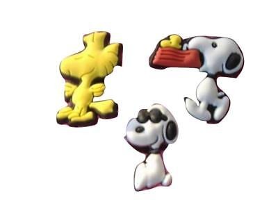 3 Snoopy Woodstock Peanuts Shoe Charms for Crocs Shoes