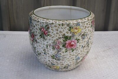 Royal Winton 1920s Hampton Grimwades Handpainted SCARCE Floral Pattern 140 Vase