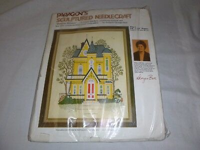 Vtg Paragon Victorian House Crewel Embroidery Kit #0326 Georgia Bell
