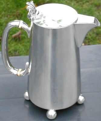 Unusual Hukin & Heath Hot Water Jug - Silver Plated - Antique