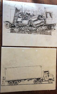 1963 Original Ink Drawing Storyboard WHO'S MINDING THE STORE w Jerry Lewis #78