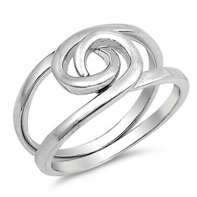 Two Piece Puzzle Knot Criss Cross Ring New .925 Sterling Silver Band Sizes 4-15