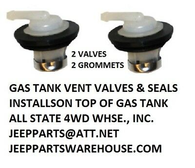 Jeep Cj Jeep Wrangler Yj Emission Rollover Check Valves And Grommets Pair New!