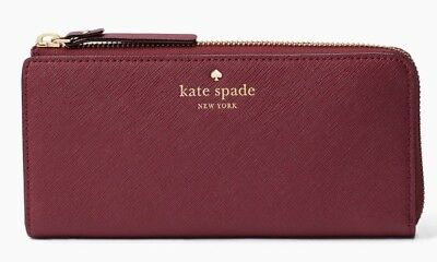 Kate Spade zip around continental wallet MIKAS POND NISHA Leather ~NWT $178~