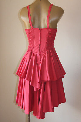 """Chic! Vintage """"French Rouge"""" Swingy Layered Party Sun Dress 12"""