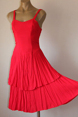 """French! Vintage """"Candy Apple"""" Party Sun Dress 18"""