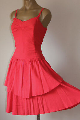 """Chic! Vintage """"French Berry"""" Swingy Layered Party Sun Dress 14"""