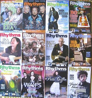 Rhythms Music Magazine - 170 copies 1992-2008 - all EC - pickup Melb - will post