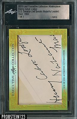2015 Leaf Executive Collection Henry Cabot Lodge Signed AUTO Autograph 1/1