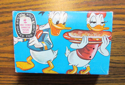 Walt Disney Donald Duck Hot Dog Submarine Jaymar Bantam Pocket Puzzle Vintage
