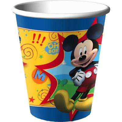 Disney Mickey Mouse Fun and Friends Party Birthday 9 oz Paper Cups 8ct NEW