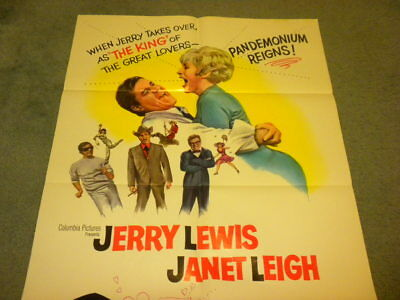 3 ON A COUCH - 1966 JERRY LEWIS JANET LEIGH 1 sheet movie poster