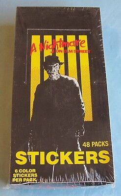 1984 - COMIC IMAGES - NIGHTMARE ON ELM STREET STICKERS - SEALED BOX and ALBUM