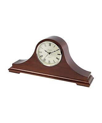 Mahogany Veneered Napoleon Hat Quarz Mantel Clock with Westminster Chimes