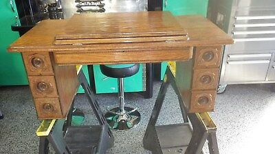 Antique Singer Treadle Sewing Machine no. 6 Cabinet Top 6 Drawer