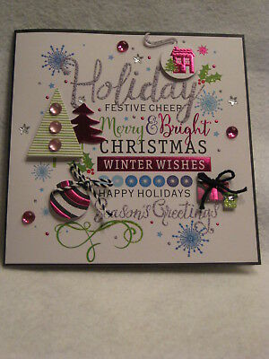 Paper Magic Handmade - Holiday Wishes - Christmas Greeting Card - NEW