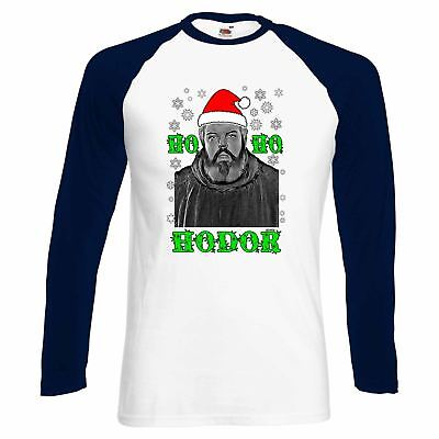 ALM786t-Mens Funny T Shirts-Ho Ho Hodor-Christmas-Game of Thrones Inspired tee