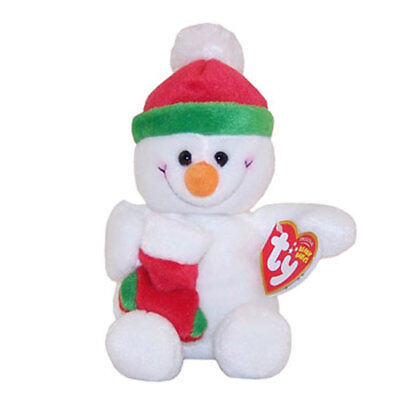 TY Beanie Baby - STOCKINGS the Snowman (7.5 inch) - MWMTs Stuffed Animal Toy