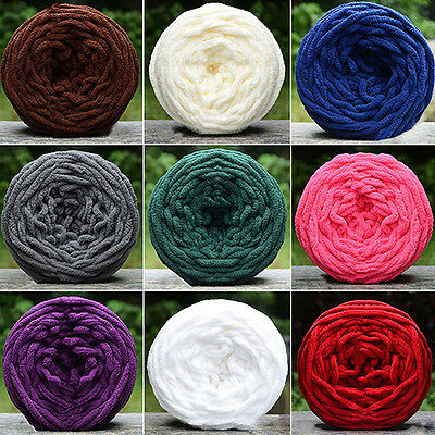 17 Colors Scarf Sweater Towel Thick Yarn Knitting Chunky Towelling Yarn Craf
