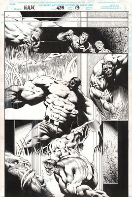 Liam Sharp Original Art Incredible Hulk #428 Page SIGNED Peter David MAN-THING
