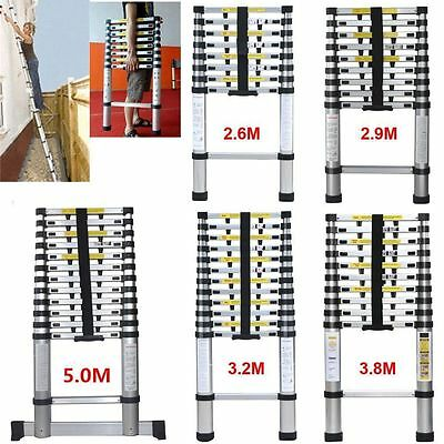 2.9M 3.2M 3.8M 5.0M Aluminum Telescopic Ladder Multi Extension Extendable UK HOT