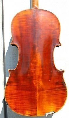 Old Antique late 1800s full sized violin for repair and restoration, # 1294