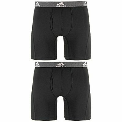 NIB ADIDAS MEN'S  RELAXED PERFORMANCE CLIMALITE BOXER BRIEF UNDERWEAR (2 Pack)