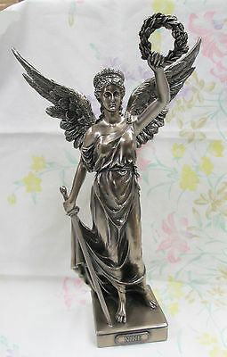 Victory of Samothrace Statue Greek Museum Replica Nike with Wreath  #WU76010A1