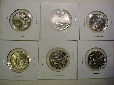 2009 All Six P Territory Quarters - BU - 6 Coins - Uncirculated