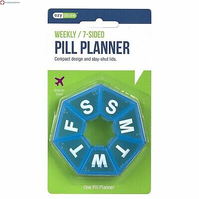 Ezy Dose 7-Sided Weekly Pill Planner Medium Great for travel 67009 Color May Var
