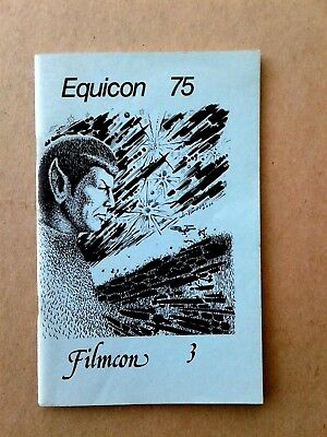 1975 EQUICON 75,  FILMCON 3 Rare Sci Fi Film Comicon type Booklet STAR TREK