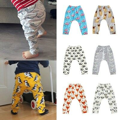 Newborn Baby Harem Pants Toddler Boy Girl Cartoon Print Trousers Leggings Cotton