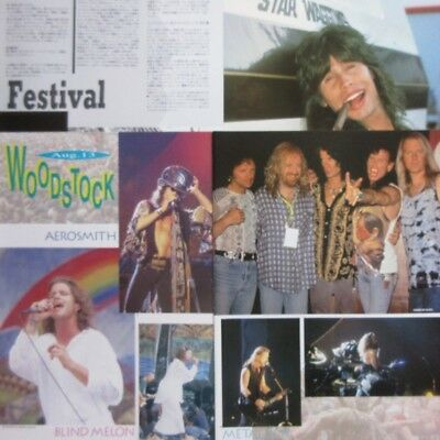 AEROSMITH Woodstock '94 STEVEN TYLER 1994 CLIPPING JAPAN MAGAZINE N4 T15 5PAGE
