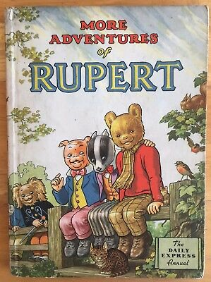 RUPERT ANNUAL 1953 Inscribed Price Intact Puzzles & Painting Untouched VG