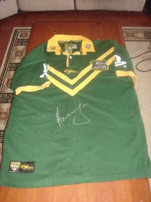 Rugby League World Cup Winning Captain Andrew Johns signed Jersey