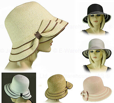 ce99787ba LADIES BUCKET HAT Cap Packable Foldable Felt Great Gatsby 20s Cloche ...