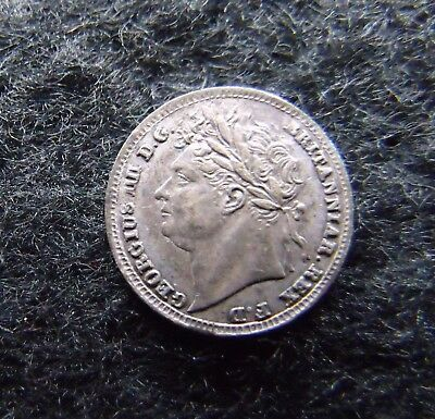 1826 George IV Maundy Penny Silver nice example.