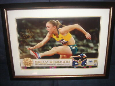 Olympic Gold Medallist Sally Pearson signed and framed Print