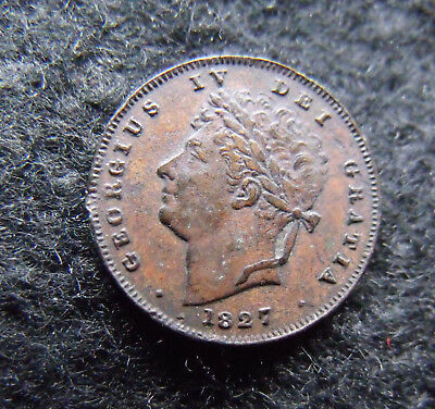 1827 George IV third farthing in nice condition.