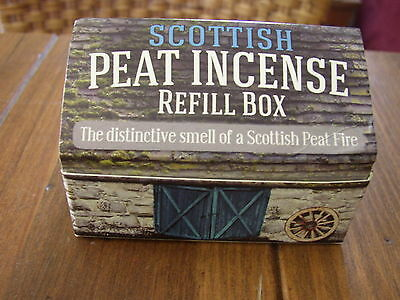 Scottish Peat or Turf Incense, refill Box of 12 pieces