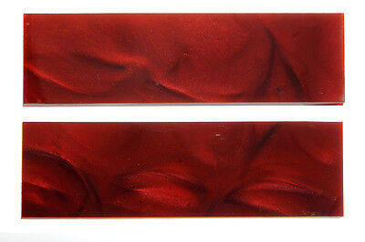 Knife making handles Large Acrylic Red Pearl Scales Pair KHARP Best XMAS