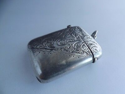 an antique hallmarked silver vesta case -1904