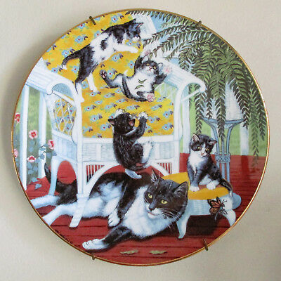 Hamilton Collection Vintage Country Kitties Plate Just for the Fern of It 1988