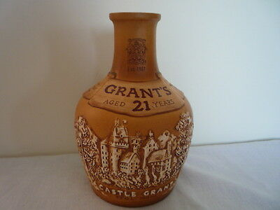 Castle Grants 21 Year Old Scotch Whisky Bottle 750ml Ceramic Royal Doulton