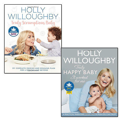 Truly Happy Baby Holly Willoughby Collection 2 Books Set  Scrumptious Baby PACK