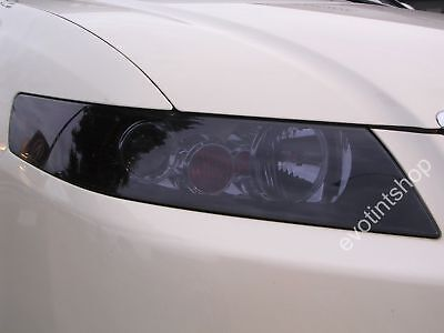 04-08 Tsx Smoke Headlight Tint Cover Black Out Overlay