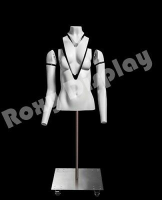 Female Invisible Ghost Mannequin Torso Form magnetic fittings #MZ-GH1/2F
