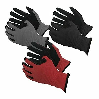 Task Gloves (3-Pack) Mechanical Task Premium Synthetic Leather Black/Grey/Red