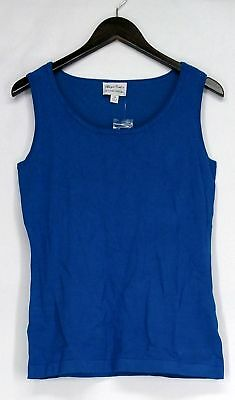 Linea by Louis Dell'Olio Size XS Whisper Knit Scoop Neck Sleeveless Blue Top