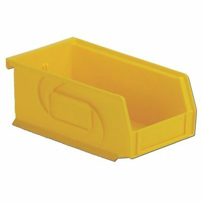 Hang and Stack Bin,4-1/8 In W,3 In H LEWISBINS PB74-3 Yellow